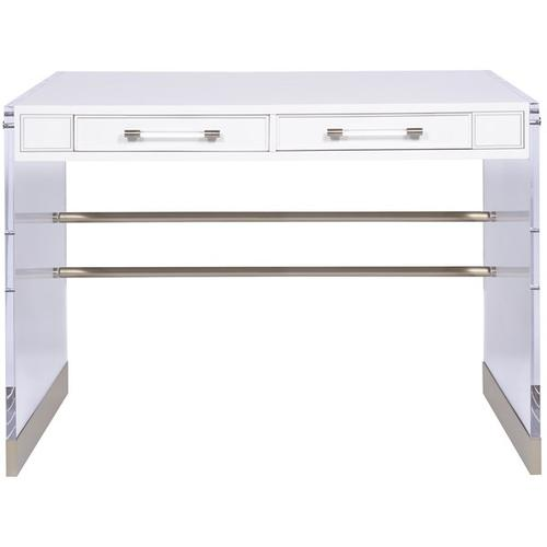Bryson Desk with Acrylic & Metal Leg HH11