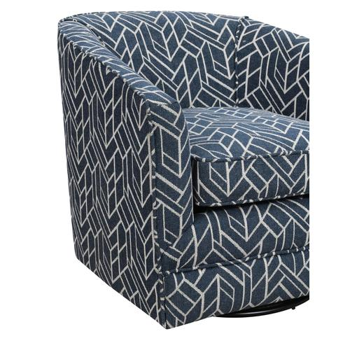 Trilogy Swivel Accent Chair, Graphic Navy