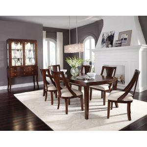 """Standard Furniture - Insignia Dining Table with 18"""" Leaf, Brown"""