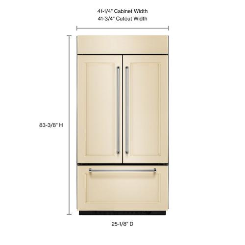 """20.8 Cu. Ft. 36"""" Width Built In Panel Ready French Door Refrigerator with Platinum Interior Design - Panel Ready PA"""