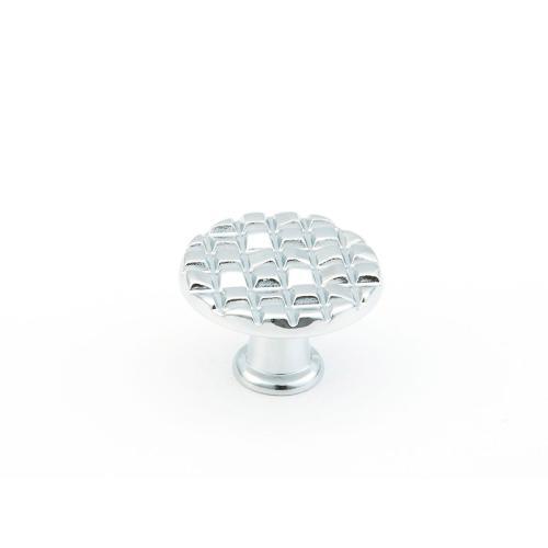 "Mosaic, Small Round Knob, 1-1/8"" diameter, Polished Chrome finish"