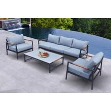 Renava Kiowa - Modern Outdoor Grey & Black Sofa Set