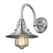 Insulator Glass 1-Light Outdoor Wall Lamp in Brushed Aluminum
