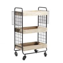 "MTL WD BAR CART 25""W, 33""H"