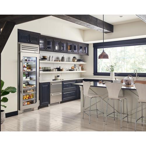 True Residential - 24 Inch Solid Stainless Door Undercounter Refrigerator Drawer
