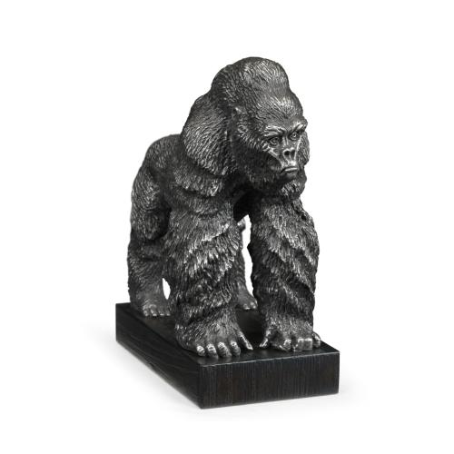 Antique Stainless Steel King Kong Statue
