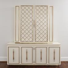 Filigree Cabinet-Ivory/Brass