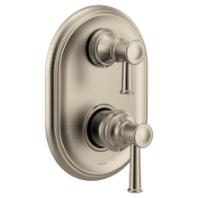 Belfield brushed nickel m-core 3-series with integrated transfer valve trim