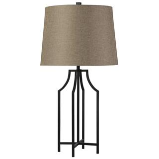 Bronzewood  Transitional  Iron Table Lamp  150W  3-Way  Hardback Shade