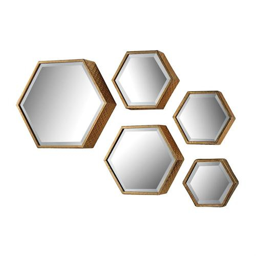 See Details - Hexagonal Mirrors (Set of 5)