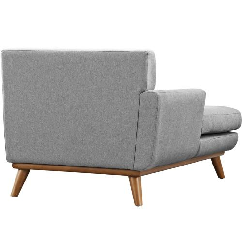 Modway - Engage Left-Facing Upholstered Fabric Chaise in Expectation Gray
