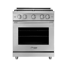 """30"""" Gas Range, Silver Stainless Steel, Natural Gas/High Alttitude"""