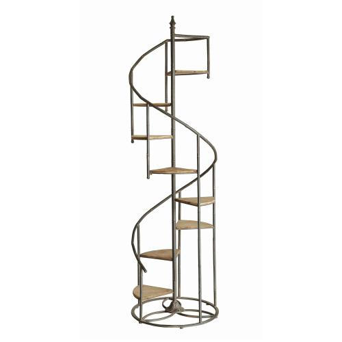 Product Image - Darby Spiral Staircase Metal and Wood Display Piece