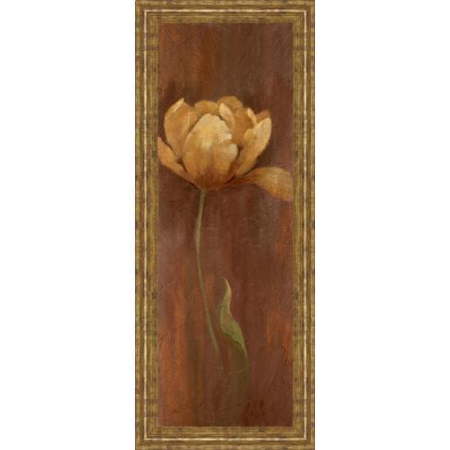 "Classy Art - ""Golden Tulip I"" By Nan Framed Print Wall Art"