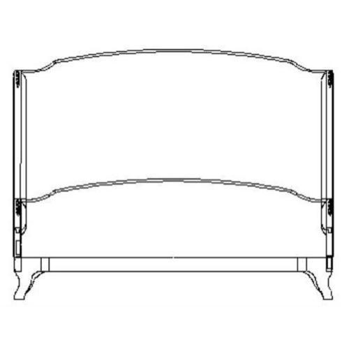 US Cali King Louis XV bed (Walnut/Velvet fuchsia)