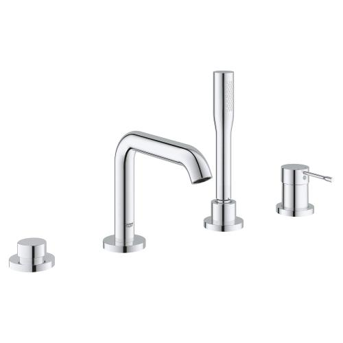 Essence New 4-hole Single-handle Deck Mount Roman Tub Faucet With 2.0 Gpm Hand Shower