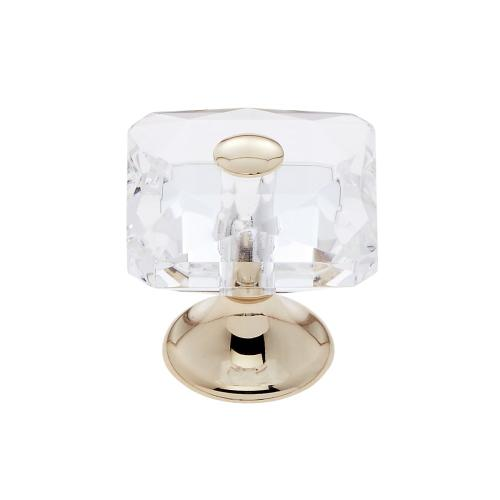 24k Gold 28 mm Square Crystal Knob