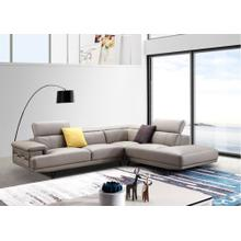 Divani Casa Brody Modern Taupe Eco-Leather Sectional Sofa
