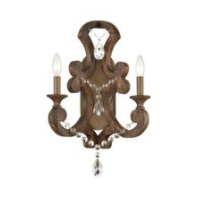 San Sebastian 2-Light Sconce in Spanish Antiquewood and Dark Bronze