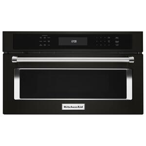 "KitchenAid27"" Built In Microwave Oven with Convection Cooking - Black Stainless Steel with PrintShield(TM) Finish"
