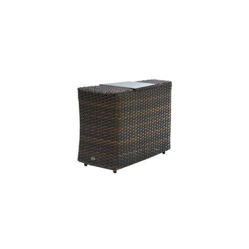 Ratana - Portfino Wedge End Table w/Aluminium Tray
