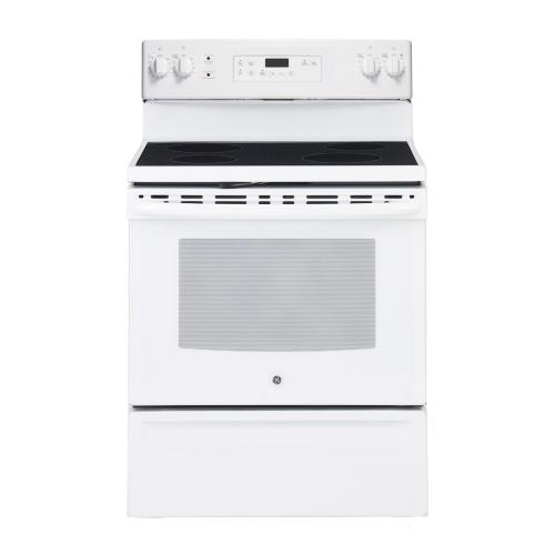 "GE 30"" Electric Freestanding Range with Storage Drawer White JCB630DKWW"