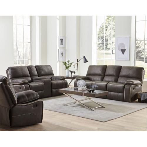 Arlington Charcoal Manual Recliner Sofa, Grey