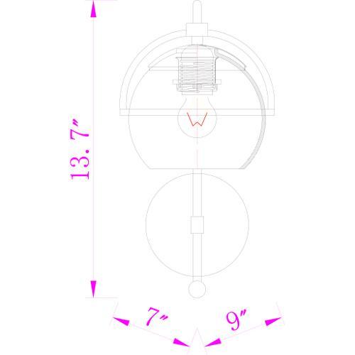 "Surya - Edmund EDM-005 14""H x 7""W x 9""D"