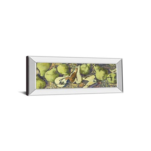 """Sparkling Pears Il"" By Silvia Rutledge Mirror Framed Print Wall Art"