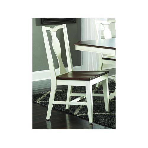 Splatback Chair in Chestnut/Shell