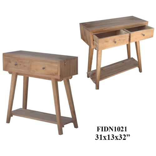 """Crestview Collections - 31X13X32"""" SOLID MINDI WOOD CONSOLE TABLE, 1PC KD/ 3.27'"""