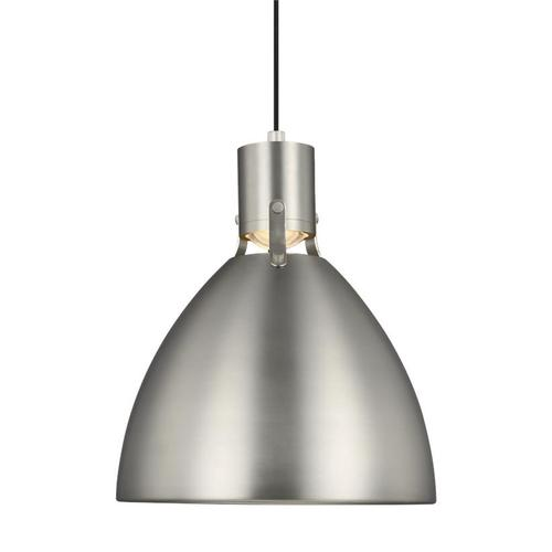 Brynne Small LED Pendant Satin Nickel Bulbs Inc