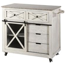 Fazio Farmhouse Kitchen Island with Granite Top