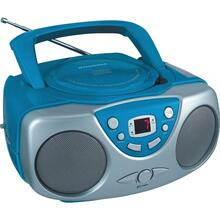 See Details - Portable CD Boom Box with AM/FM Radio (Blue)