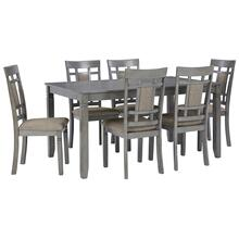Jayemyer Dining Table and Chairs (set of 7)