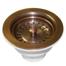 """DR320 3.5"""" Basket Strainer in Solid Copper"""