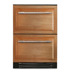 True Residential24 Inch Overlay Panel Door Undercounter Freezer Drawer