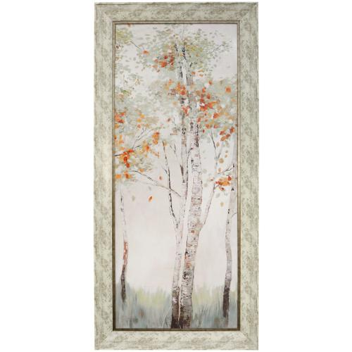 Style Craft - AUTUMN FIRST BREATH II  32in w X 68in ht  MADE IN USA  TEXTURED FRAME PRINT