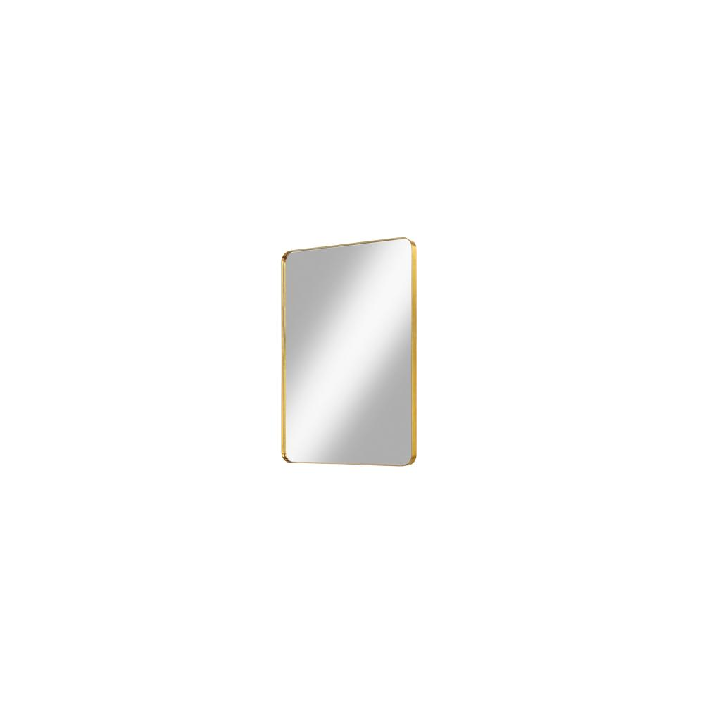"Reflections 24"" Metal Frame Mirror - Brass"