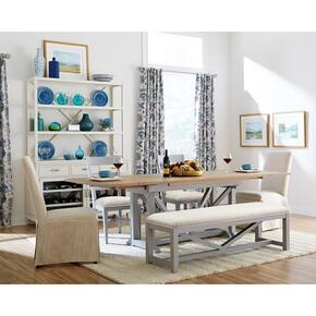 Osborne - Upholstered Dining Bench - Gray Skies Finish