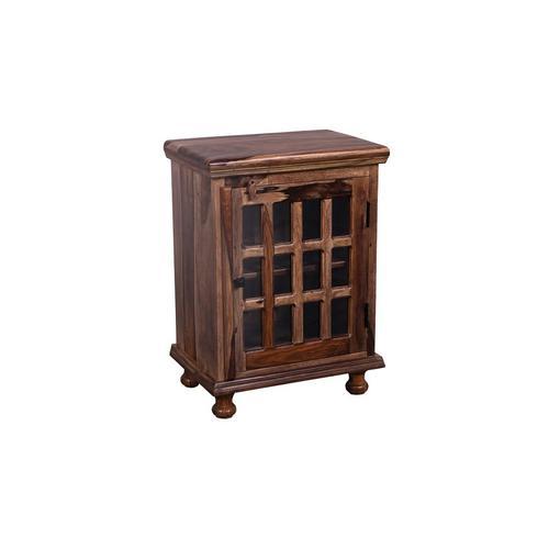 See Details - Tahoe Harvest 12 Glass Bedside Cabinet, PDU-1085HRU