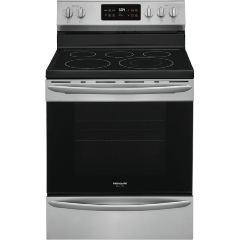 Gallery 30'' Freestanding Electric Range with Steam Clean