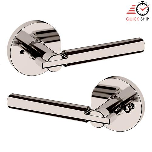 Baldwin - Polished Nickel with Lifetime Finish 5161 Estate Lever with 5046 Rose