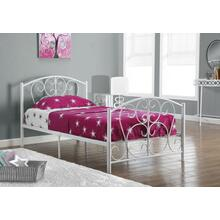 See Details - BED - TWIN SIZE / WHITE METAL FRAME ONLY