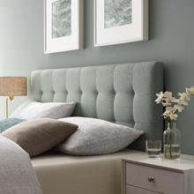 View Product - Lily Full Upholstered Fabric Headboard in Gray