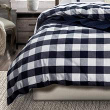 3 PC Camille Duvet Set, Navy - Super King