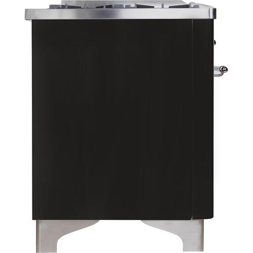 Majestic II 36 Inch Dual Fuel Liquid Propane Freestanding Range in Matte Graphite with Chrome Trim