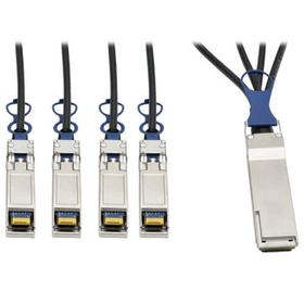 QSFP+ to 10 GbE SFP+ Passive DAC Breakout Cable (M/M), QSFP+ to (x4) SFP+, Compatible to Cisco QSFP-4SFP10G-CU1M, 1 m (3 ft.)