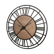 "Lewiston 59"" Round Oversized+ Industrial Wall Clock"