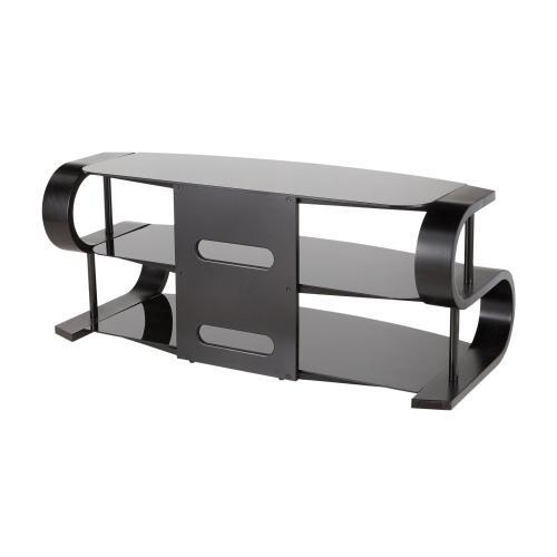 Lumisource - Metro 120 Tv Stand - Black Wood, Black Glass, Black Metal